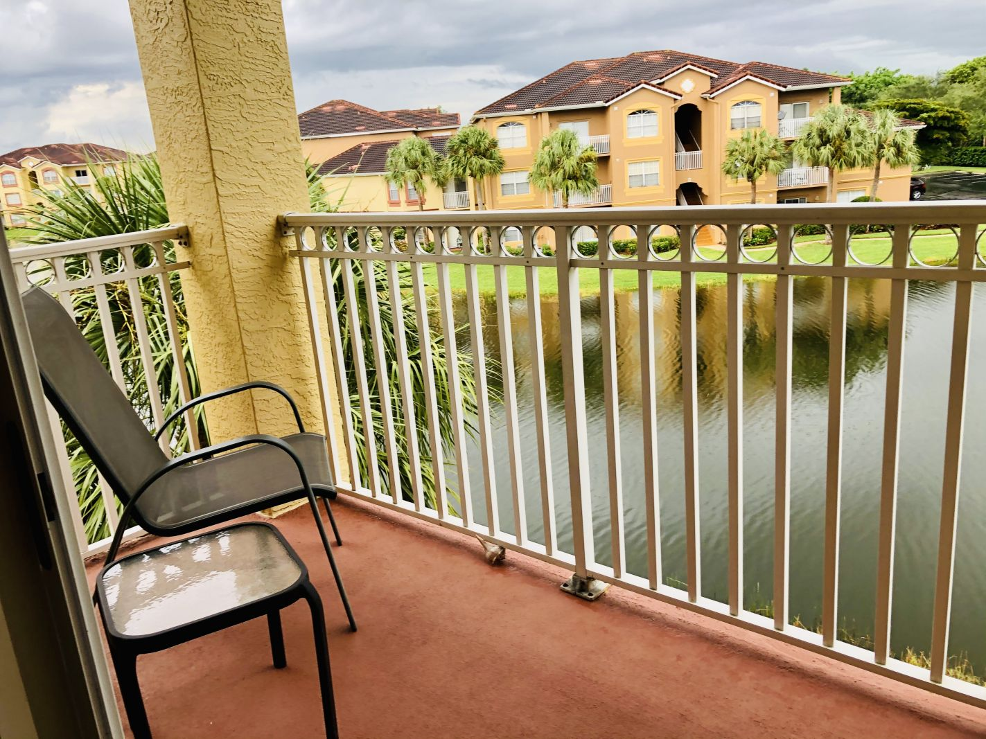 Private Balcony overlooking a Lake