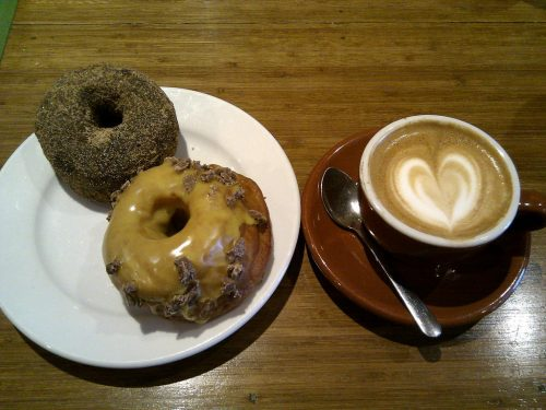 coffee and donuts at Bennett's