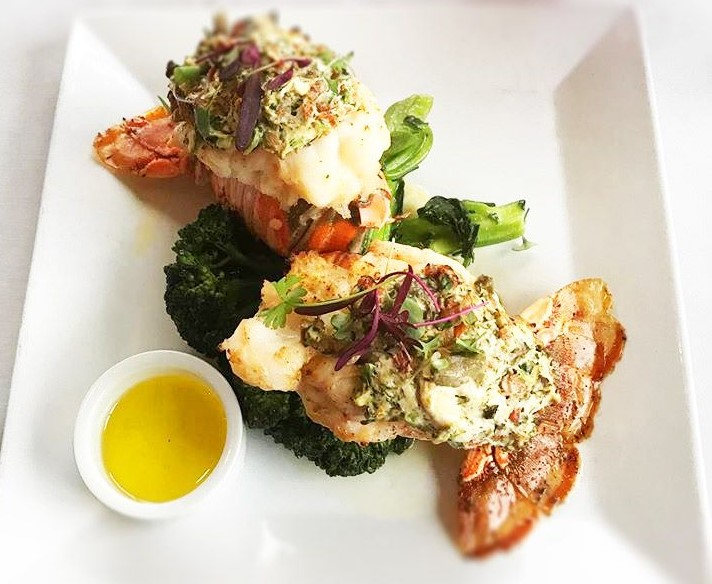 bayfront bistro seafood dish in Fort Myers Beach
