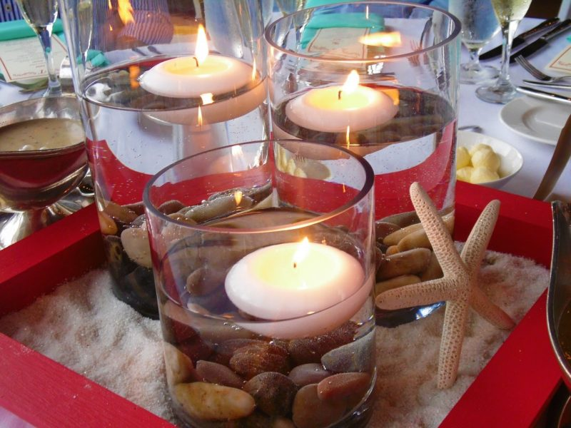 candles on a nice table